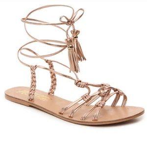 New Nanette Lepore June Rose Gold Sandals 8.5